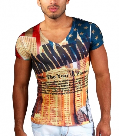 t-shirt homme manhattan 4131