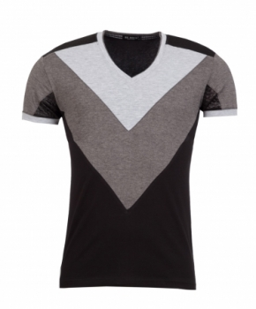 t-shirt homme fashion V  noir 147