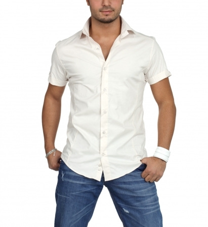 Chemise homme cintr pas cher - Chemise homme fashion coupe italienne cintree ...