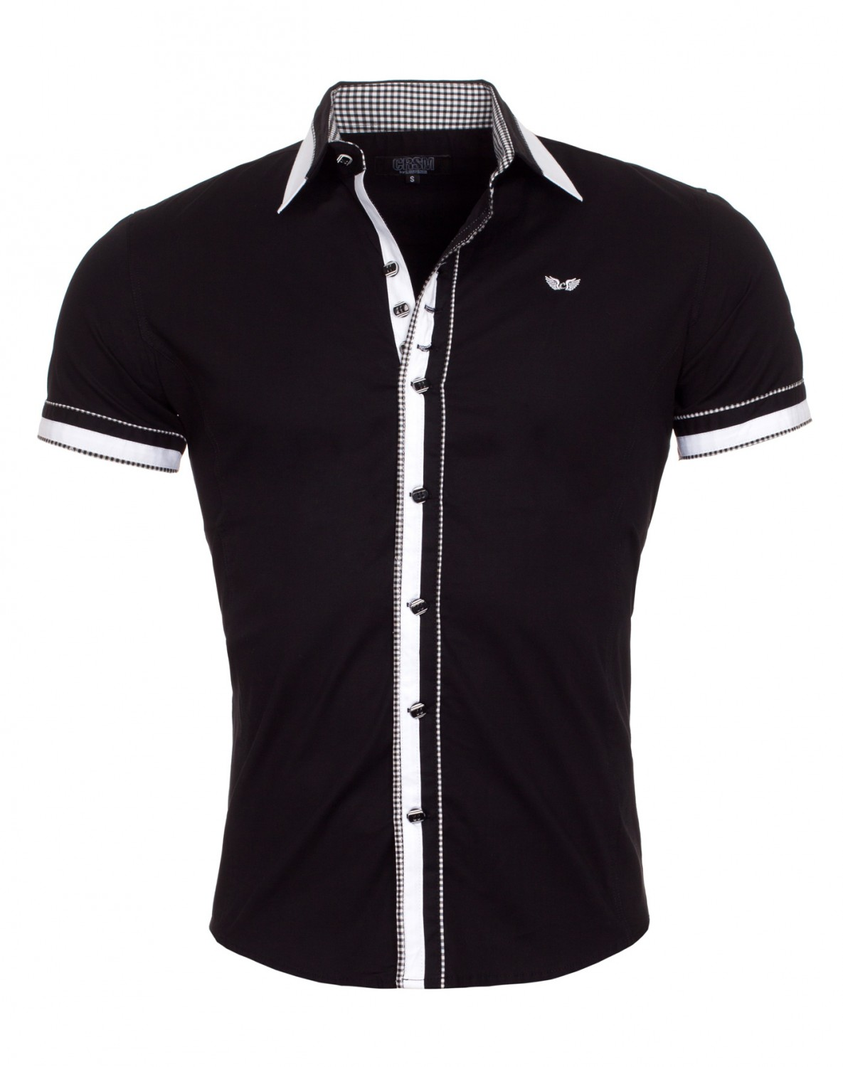 Chemise italienne homme noir 9023 - Chemise homme fashion coupe italienne cintree ...