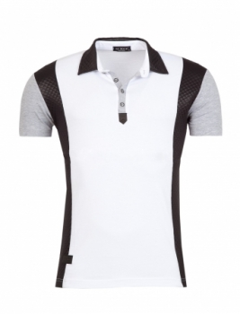 polo homme bi-matiere blanc 1978