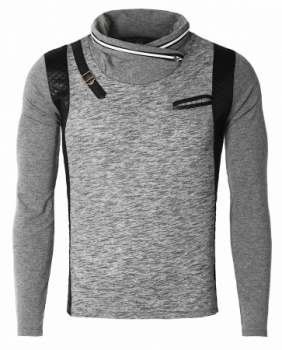 Pull homme classe gris 3142