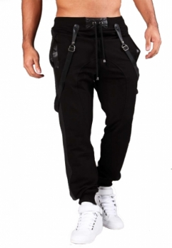 jogging homme fashion noir a bretelle 14800