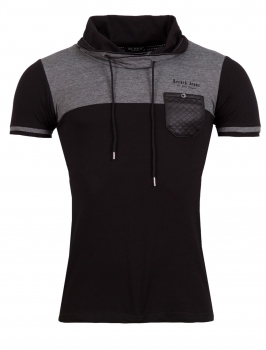 T-shirt homme fashion noir 128