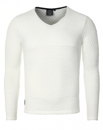 Pull homme  blanc 7225