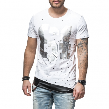 T-shirt  homme fashion asymetrique 1498