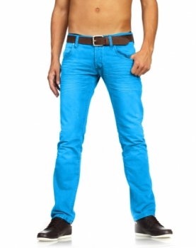 jeans chino homme turquoise 308