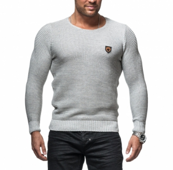 Pull  homme fin gris 735