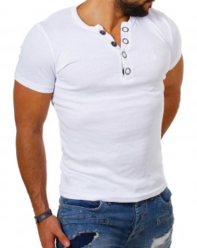 T-shirt col v blanc MIDDLE 172