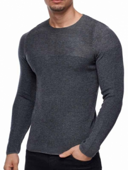 Pull homme léger gris anthra 781