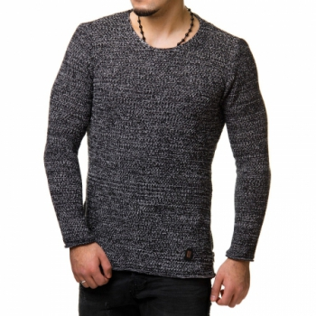 Pull homme fin noir DONTAY  783