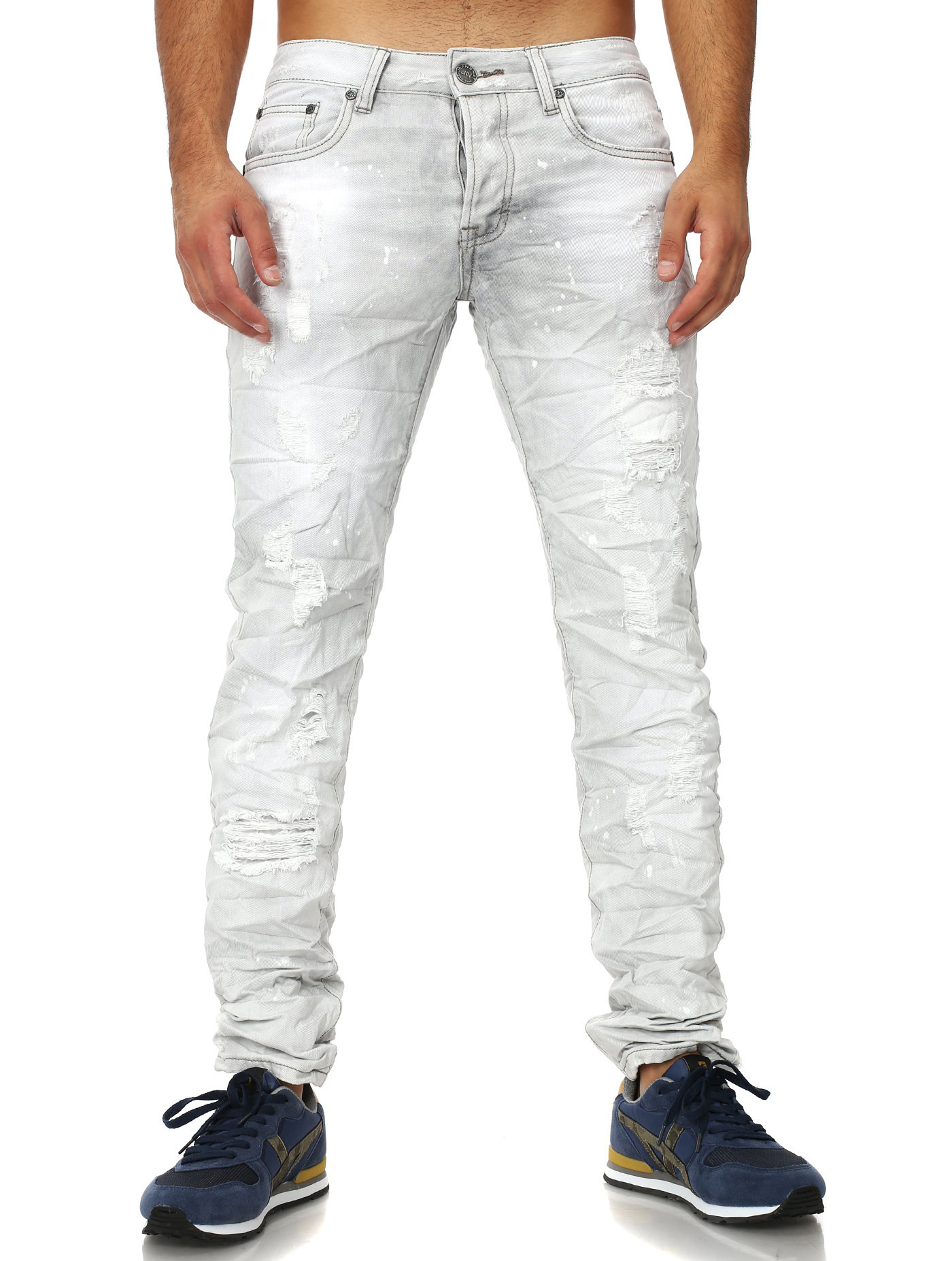 c24f14b18b420 jeans homme gris TRADE 732