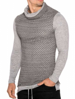 Sweat homme gris  maille filet 2007