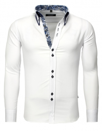 chemise homme classe blanche 862
