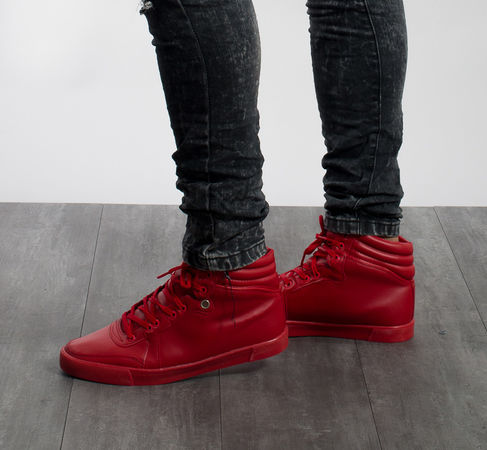 Sneakers homme ROUGE 1011