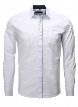 chemise italienne homme blanc 885