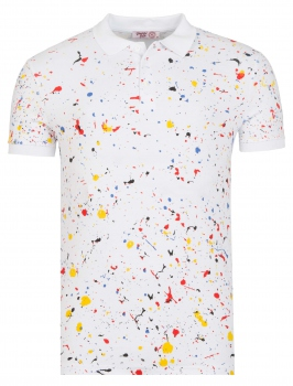 Polo homme PAINTING blanc 112
