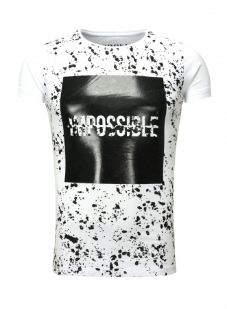 T-shirt homme blanc IMPOSSIBLE 405