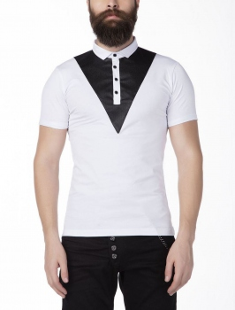 Polo homme blanc STYLE