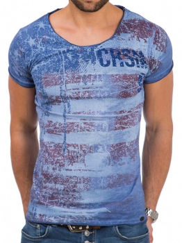 T-shirt homme indigo UNITED 474