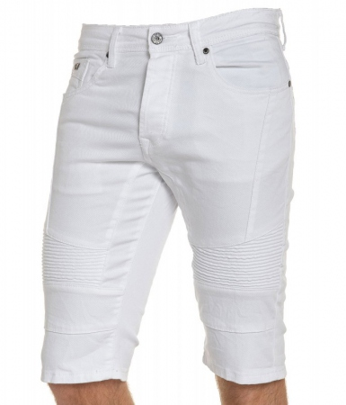 Bermuda homme jeans blanc GD212