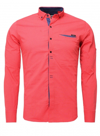 Chemise homme italienne pastel rikko 6207 - Chemise homme fashion coupe italienne cintree ...