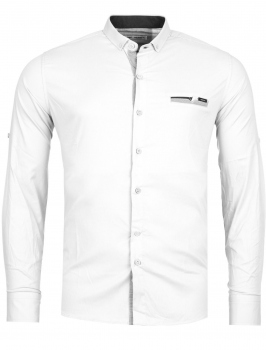 chemise homme italienne blanc BIONY 6202