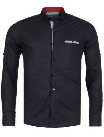 Chemise homme italienne navy biony 6202 - Chemise homme fashion coupe italienne cintree ...