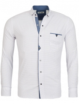chemise homme italienne blanc CHOAP 6204