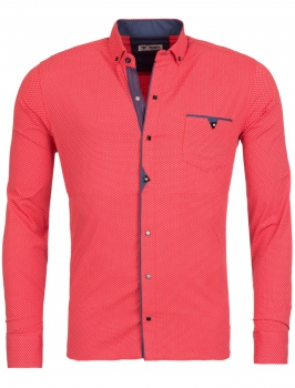chemise homme italienne corail CHOAP 6204