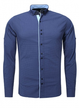 chemise homme italienne bleu pitchi 6205