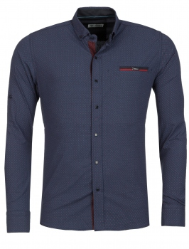 chemise homme italienne navy KLOP 6203