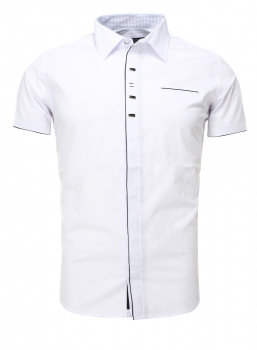 chemise homme italienne manche courte blanche  987