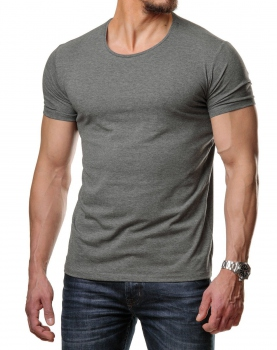 T-shirt basic homme gris antra col rond  171