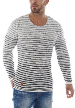 pull homme blanc crazy 3029