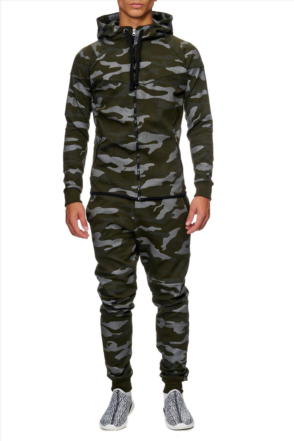 ensemble jogging homme camouflage vert 658. Black Bedroom Furniture Sets. Home Design Ideas