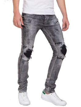 Style jean gris homme