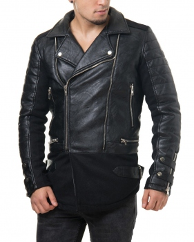 veste simili cuir homme biker rouge pas cher baresi pour. Black Bedroom Furniture Sets. Home Design Ideas