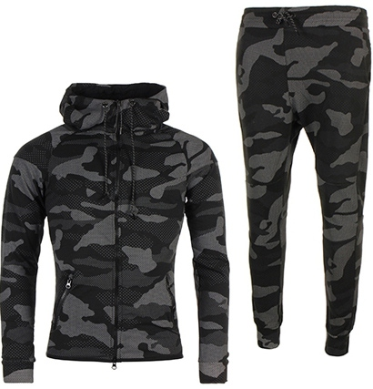ensemble de jogging homme camouflage noir pas cher pour. Black Bedroom Furniture Sets. Home Design Ideas