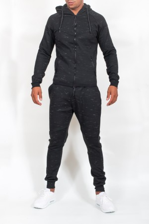 ensemble de jogging  homme noir  chiné