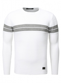 Pull homme blanc  RAYANNOS 592