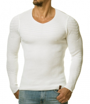 Pull homme blanc stone DRAIN 3030