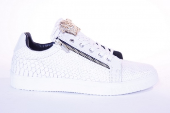 Sneakers homme blanc  snake 610