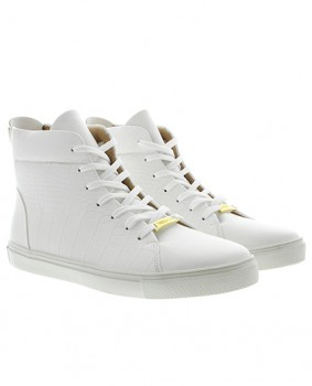 Sneakers montante homme blanc  261
