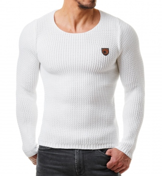 Pull homme blanc MORE 472