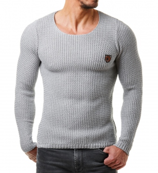 Pull homme gris clair MORE 472