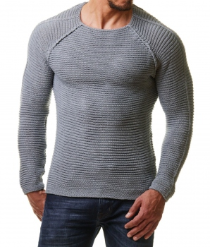 Pull homme gris clair ZAO 442