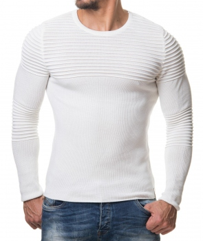 Pull homme blanc nited 647