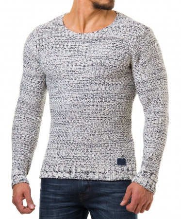 Pull homme stone chiné 583