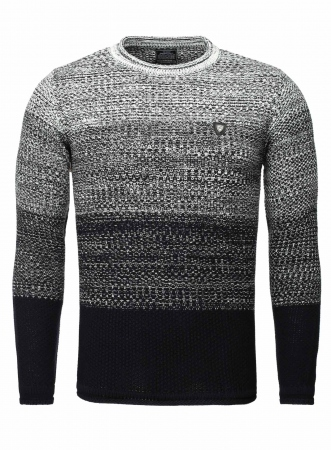 Pull homme fashion bleu navy 398